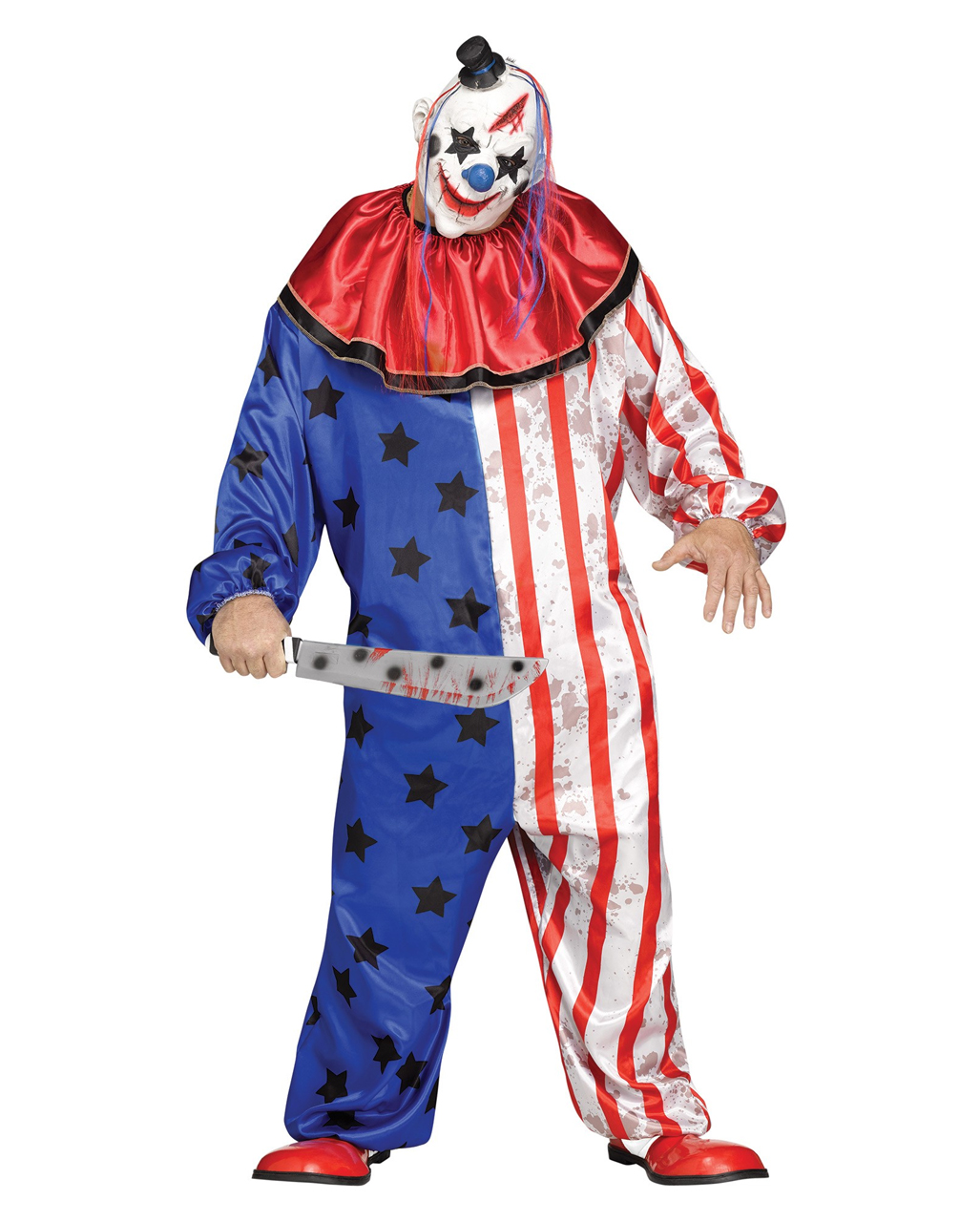 6a321a2bd5c Horror circus clown costume with mask PLUS SIZE