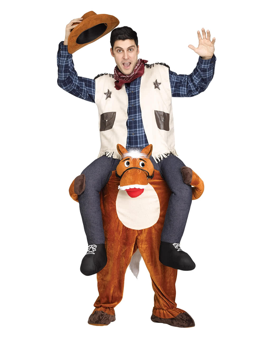 Riding Cowboy Costume Piggyback ...  sc 1 st  Horror-Shop.com : cowboy costume  - Germanpascual.Com
