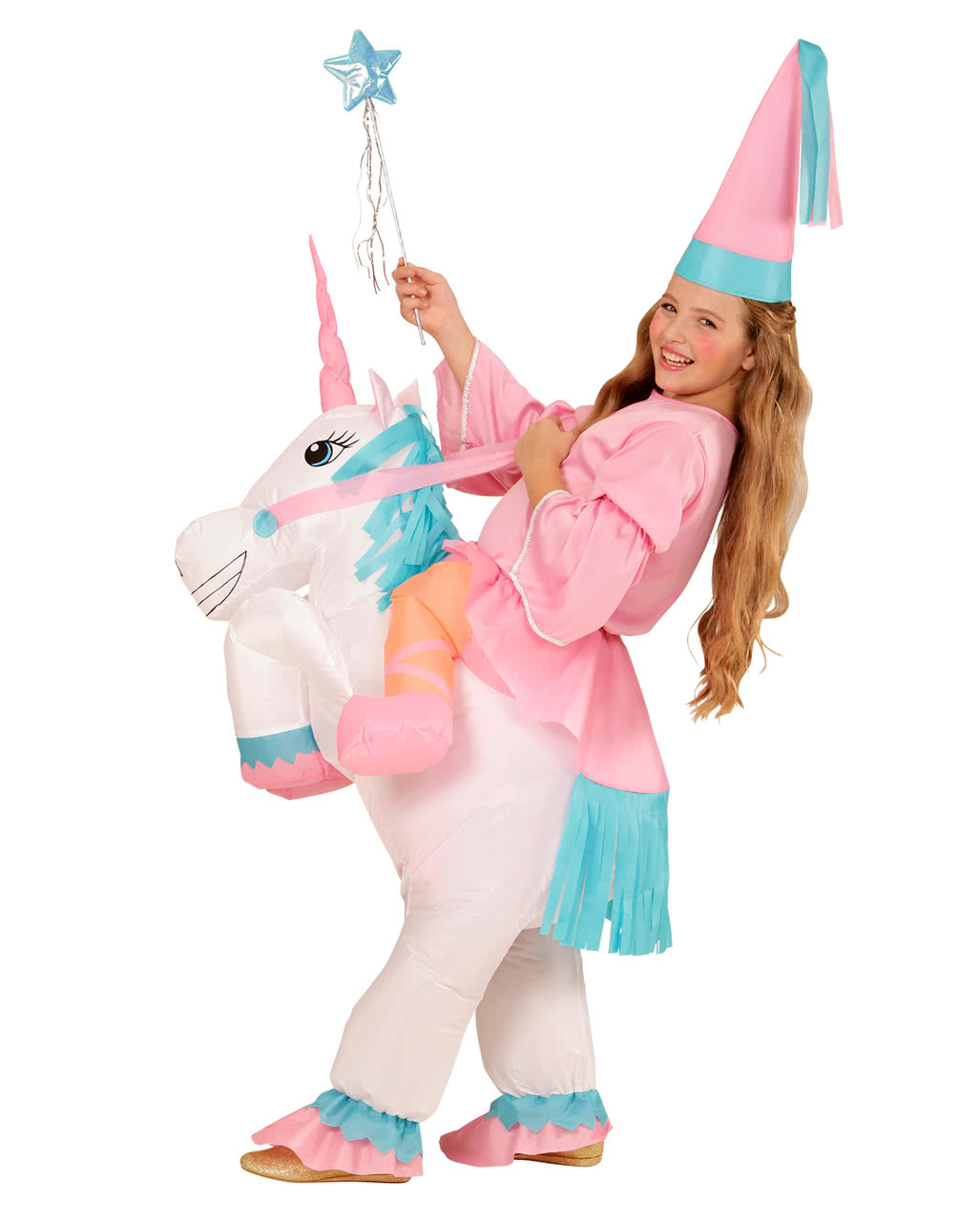 Unicorn Costume For Girls Inflatable  sc 1 st  Horror-Shop.com & Unicorn Costume For Girls Inflatable As a fairytale costume | horror ...