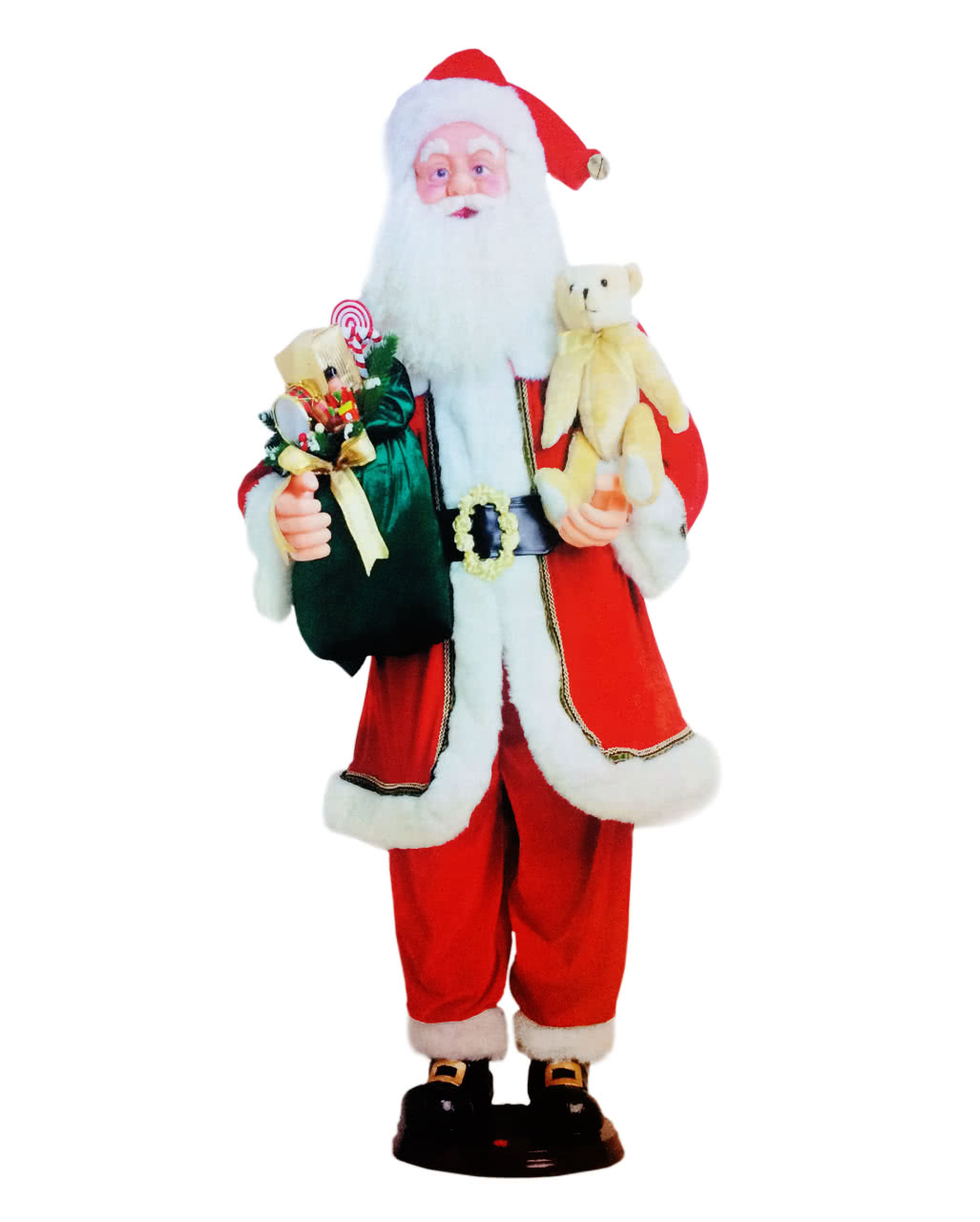 santa claus figure animatronic 150cm - Animatronic Christmas Decorations