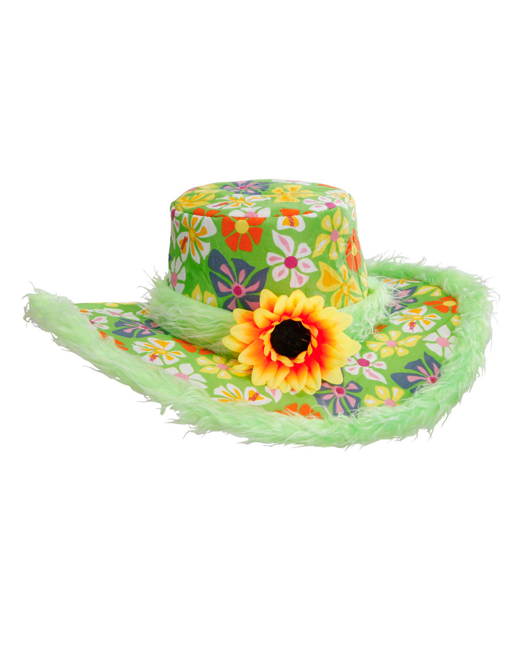 7dab8615201 Ibiza Hat With Plush Green for hippies   beach party