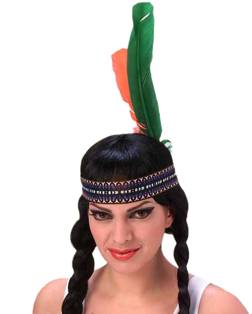 Indianer Kopfschmuck Mit Federn Indianer Kostum Zubehor Horror