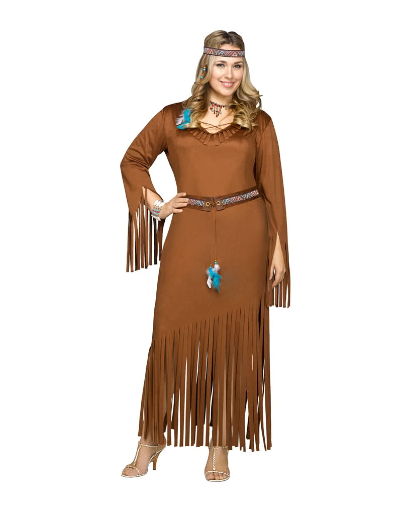 Indian Costume Plus Size ...  sc 1 st  Horror-Shop & Indian Costume Plus Size | Wild West Costumes at low prices | horror ...