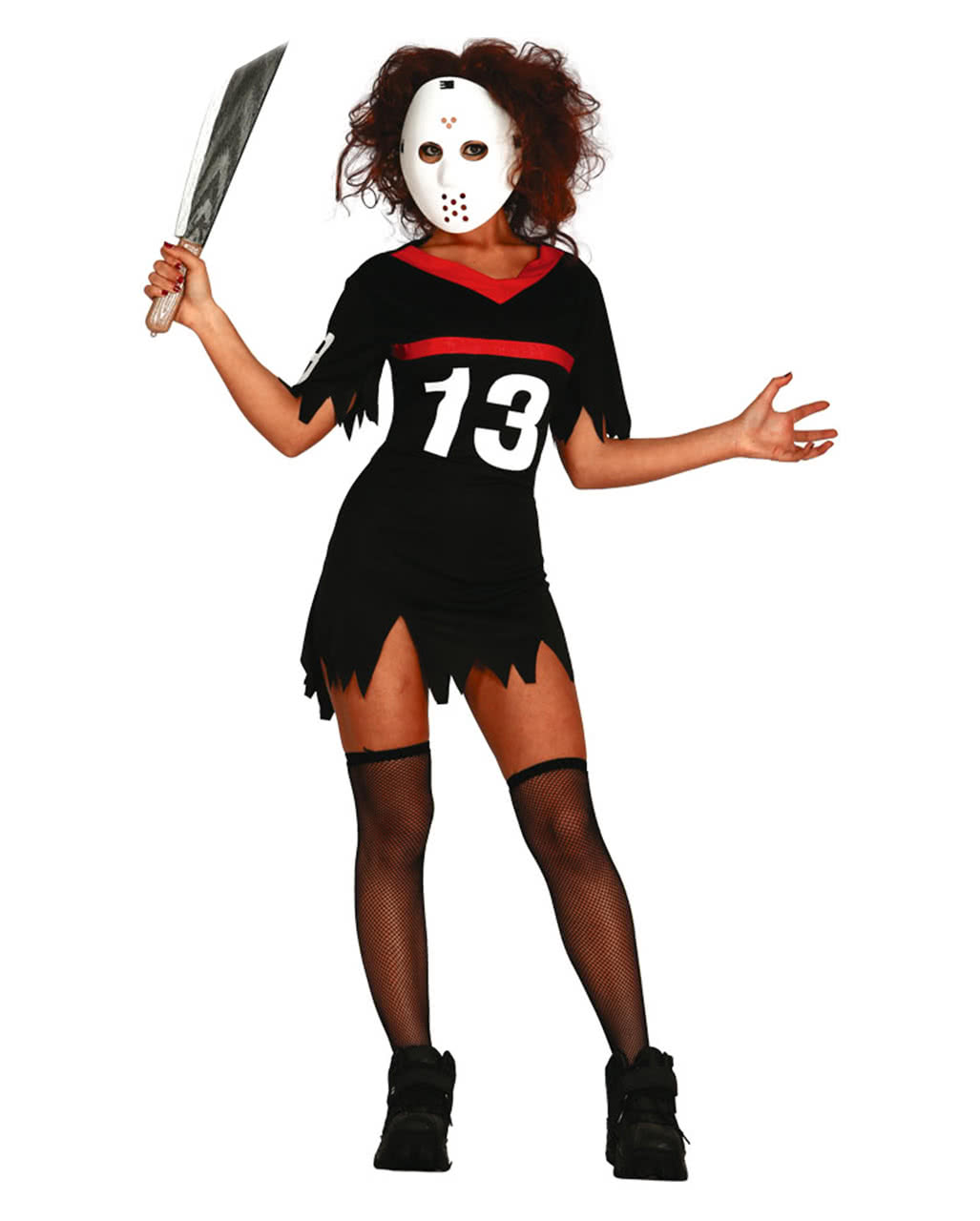 ice hockey ladies costume with mask