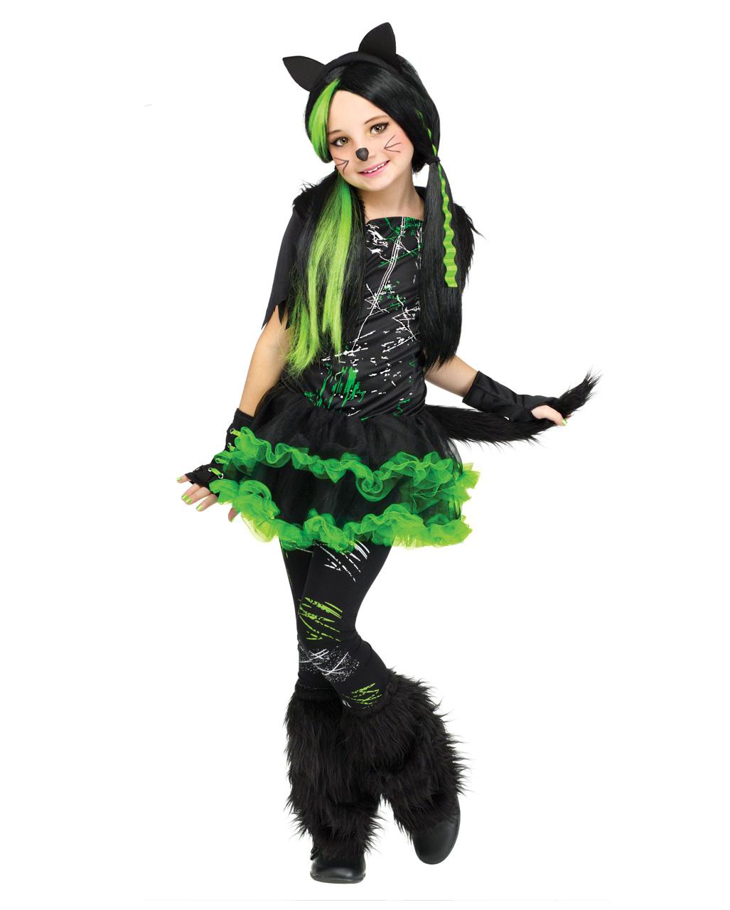 Coole Katze Kinderkostum Fur Halloween Horror Shop Com