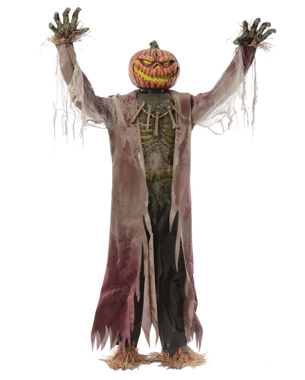 pumpkin scarecrow halloween animatronic httpsinst 1cdnshockersdehs_cdn