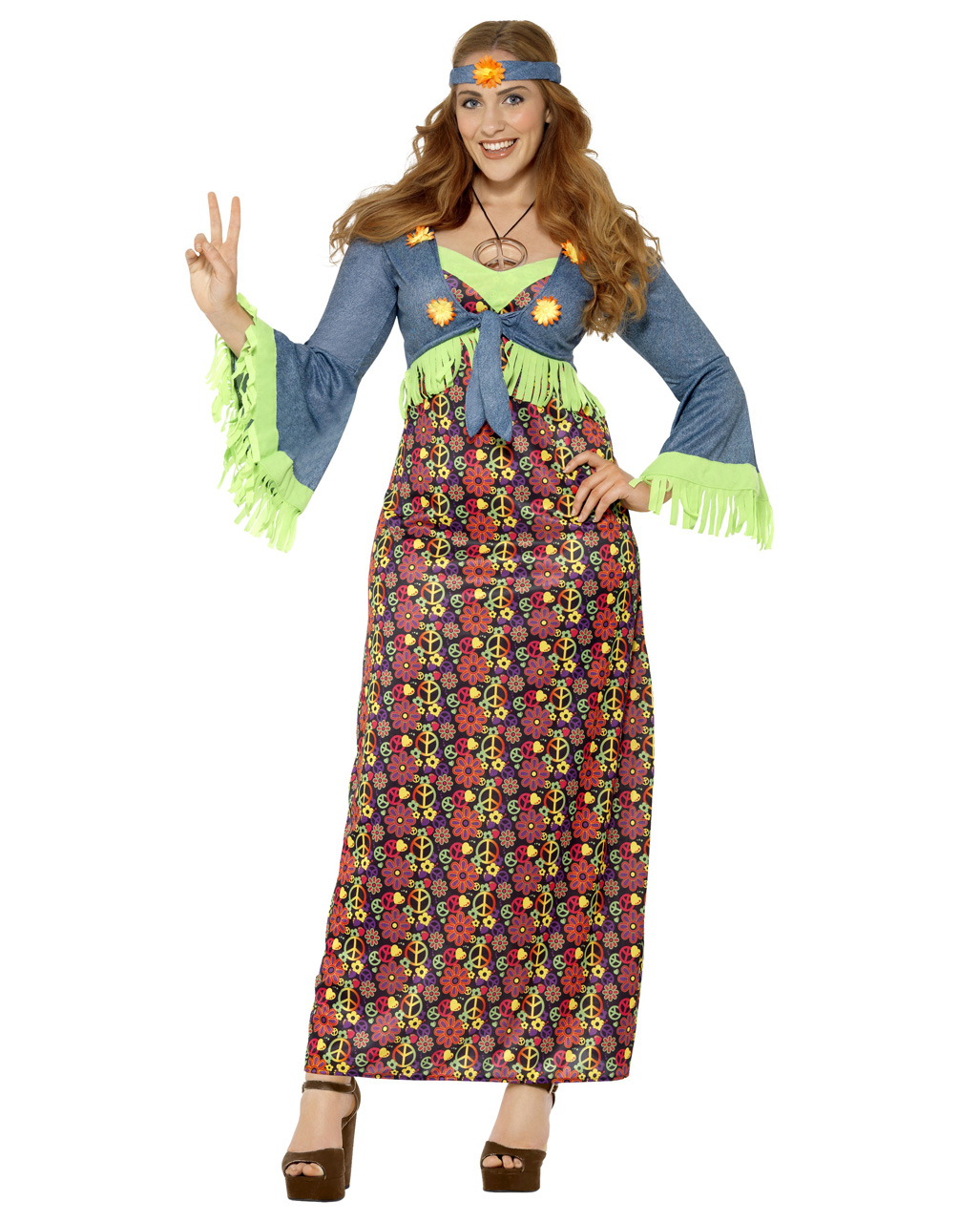 curvy hippie lady plus size costume to order | horror-shop