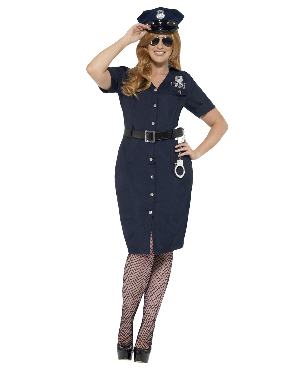 Kurvige Nyc Polizistin Plus Size Kostum Fur Fasching Horror Shop Com