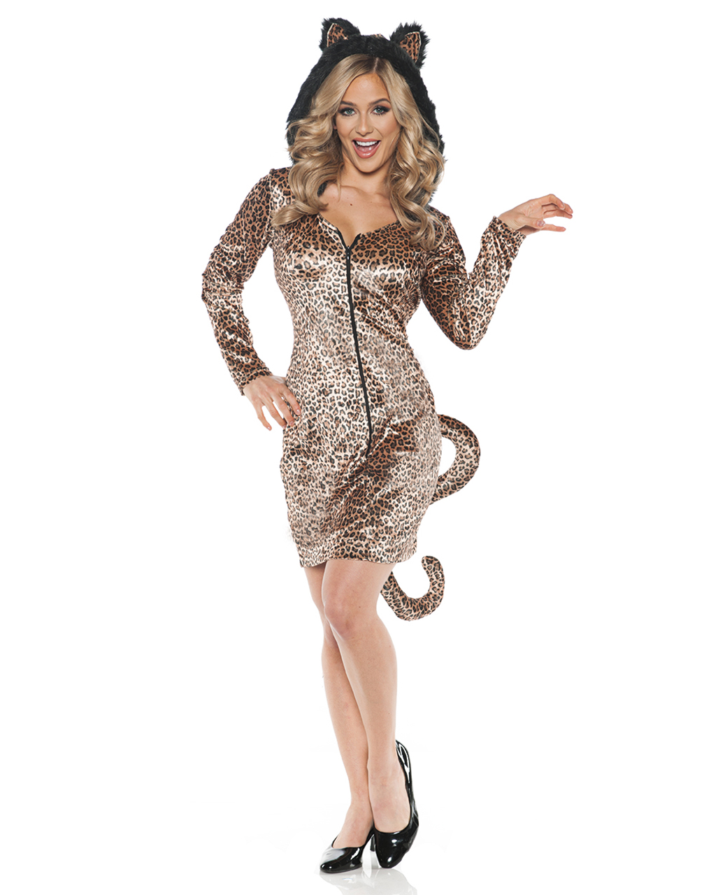 Leopard Kostüm Kleid für Karneval | Horror-Shop.com