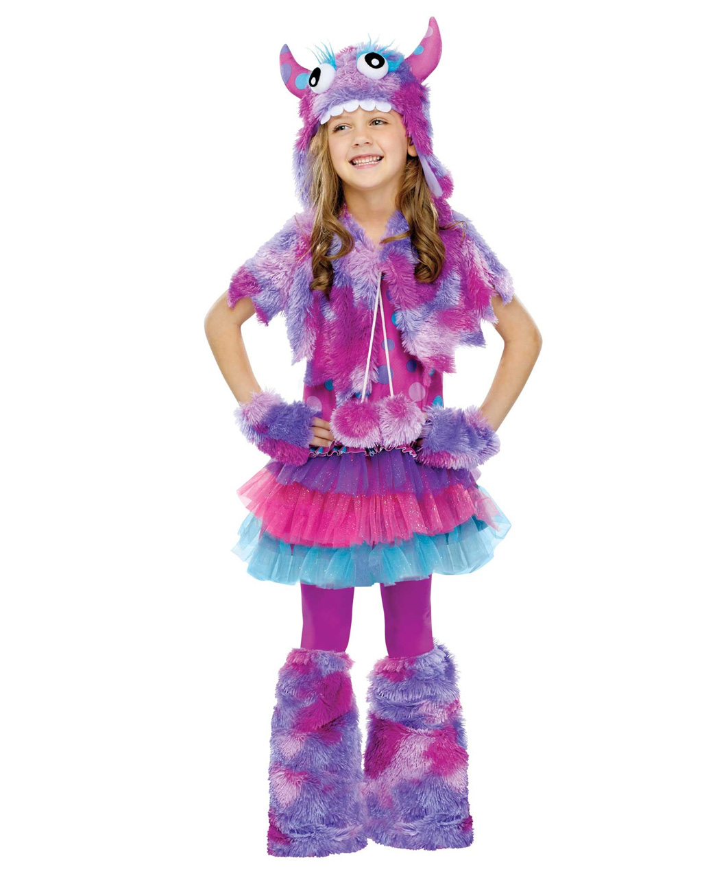 Purple Cuddly Monster Girl Costume Halloween costume | horror-shop.com