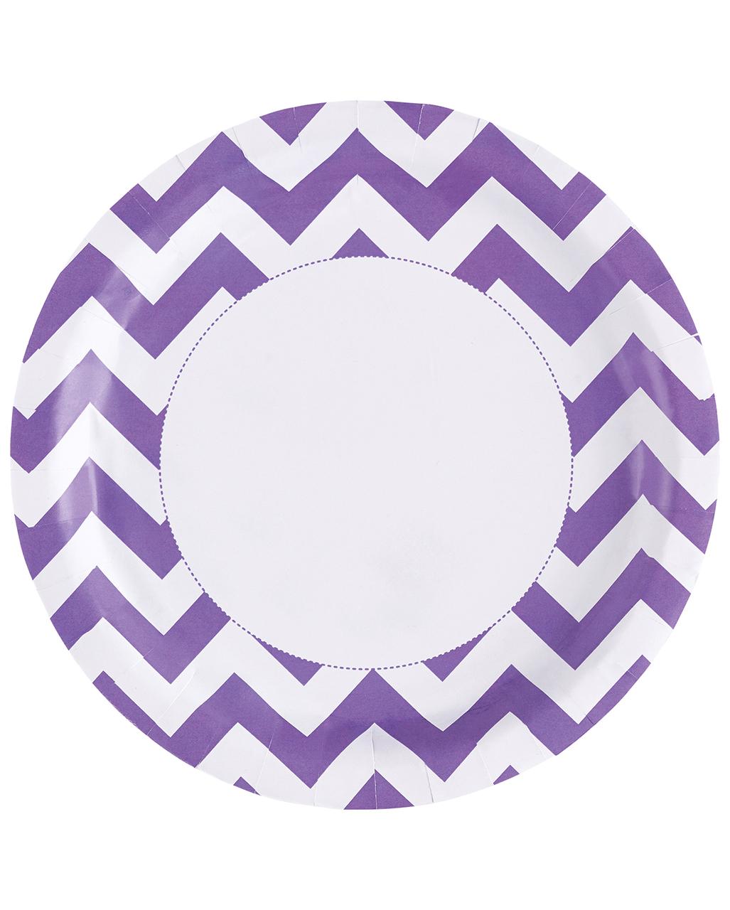 sc 1 st  Horror-Shop.com & Purple Zig-zag Paper Plate 8 Pcs. ✿ Buy HERE   horror-shop.com
