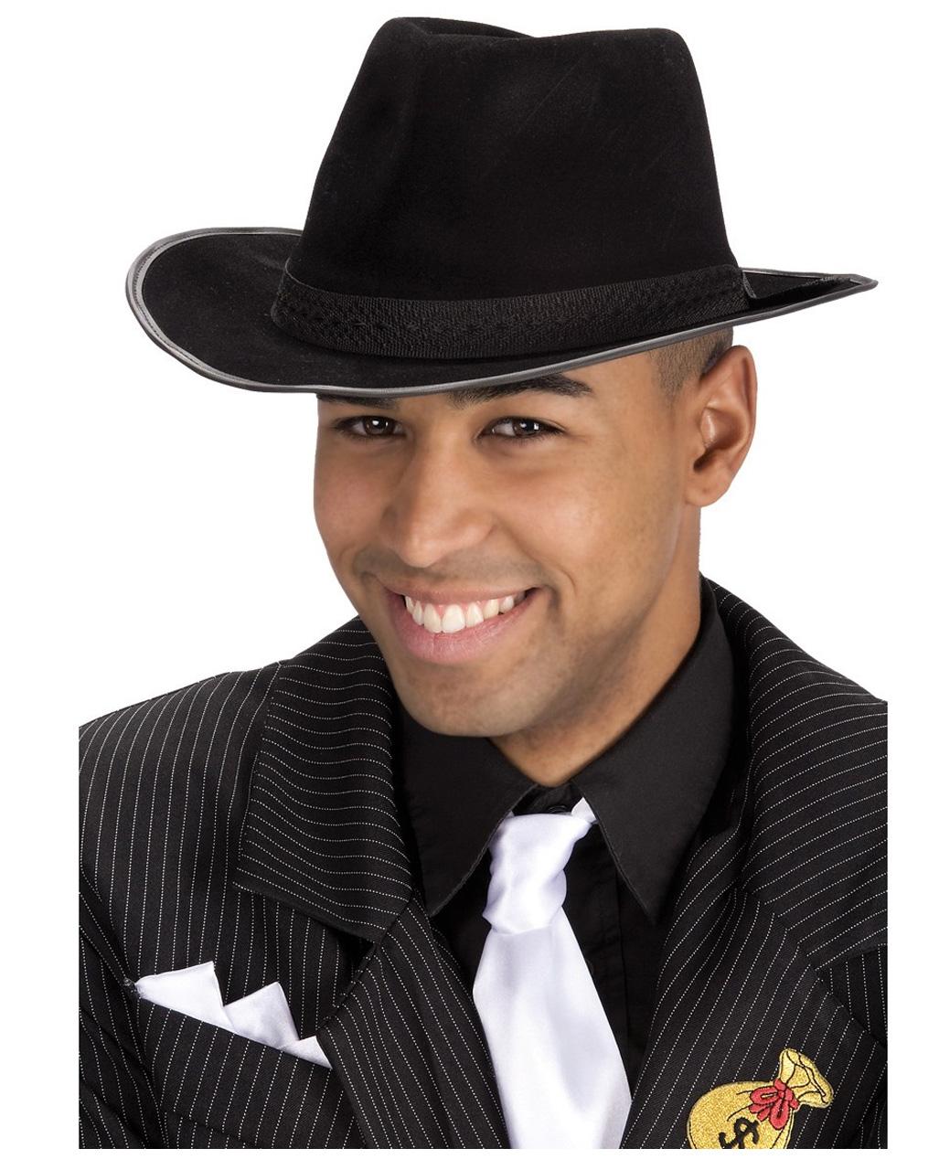 3ea062f1782 Black Mafia Hat Al Capone   Gangster Hat