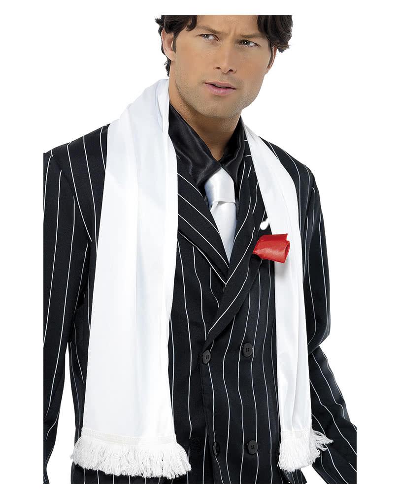 Mafia white scarf with fringe | 20s Costume Accessories | horror ...