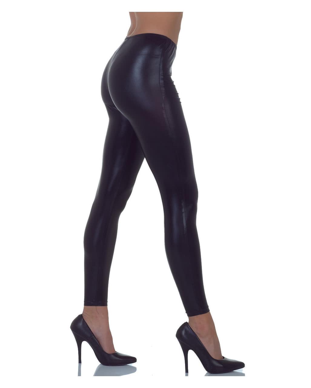 74080f655e08e Metallic Leggings Black | Wet-Look costume pants | horror-shop.com