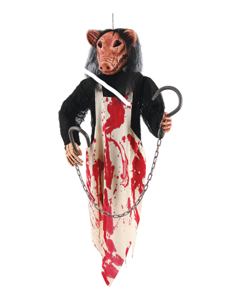 Butcher Pig Hanging Figure ...  sc 1 st  Horror-Shop.com & Butcher Pig Hanging Figure Halloween decoration for horror fans ...