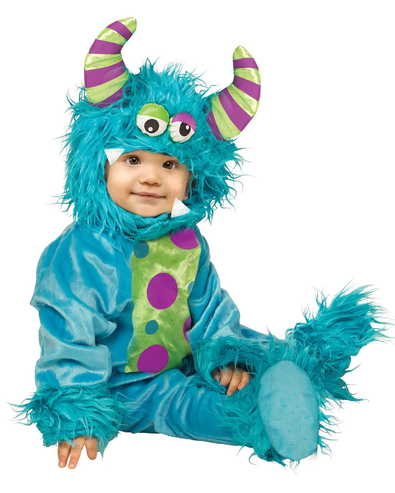 Blue Monster Baby Costume ...  sc 1 st  Horror-Shop.com : baby monster halloween costume  - Germanpascual.Com