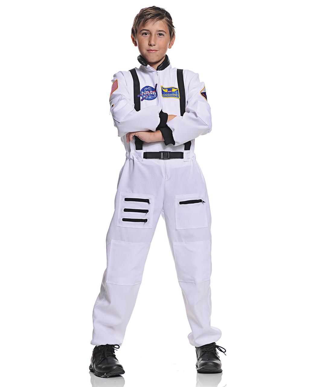 Nasa Astronauten Kinderkostum Weiss Fur Fasching Horror Shop Com