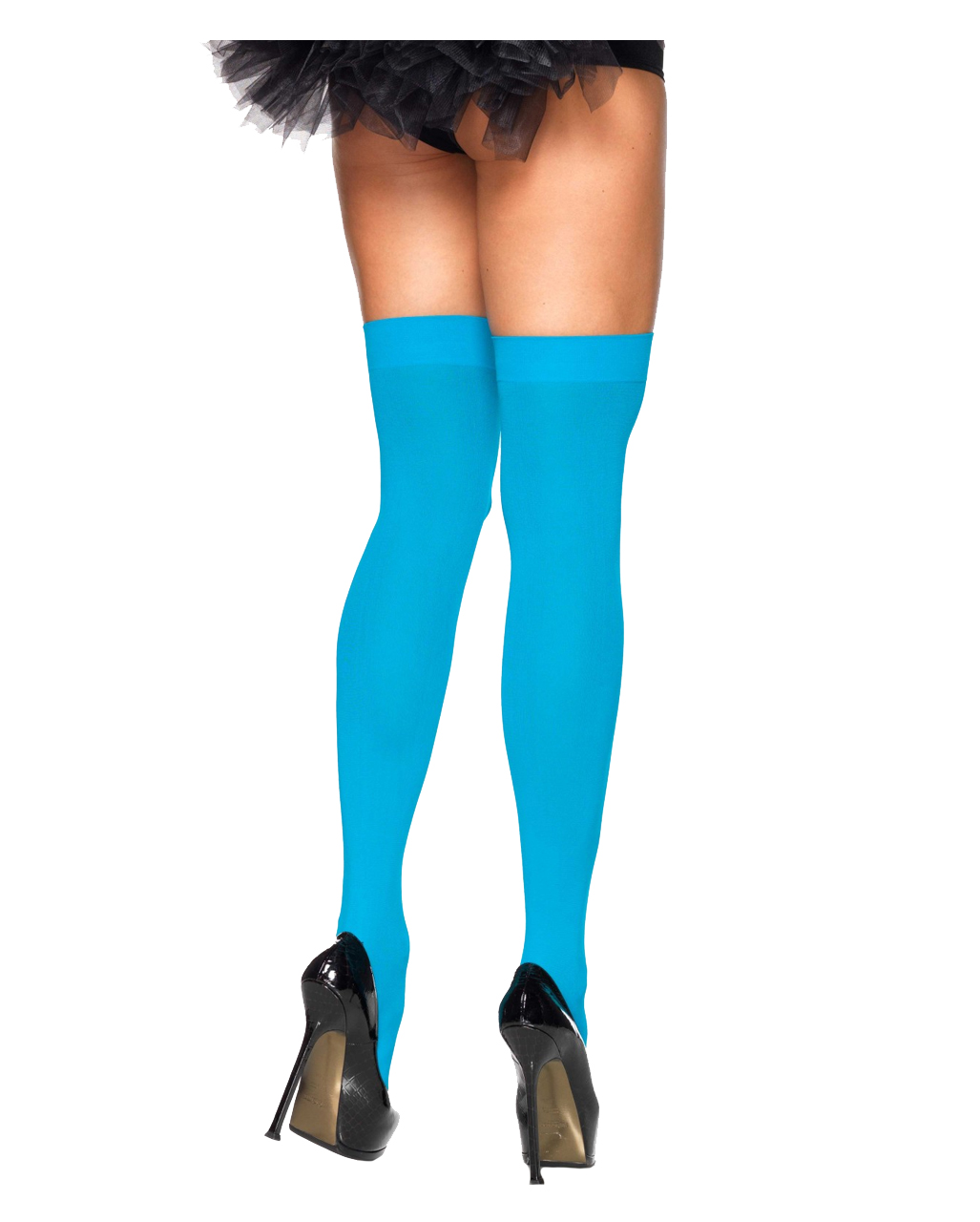 6552ad33bd2 Neon Blue 80s Overknees as costume accessories