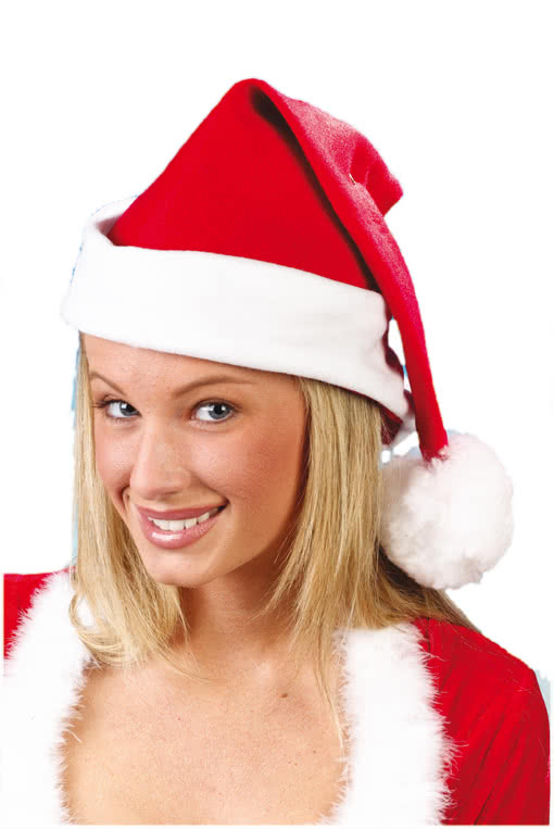b5668a55c1e Santa Claus Hat with Brim -Santa Hat-Father Christmas Hat