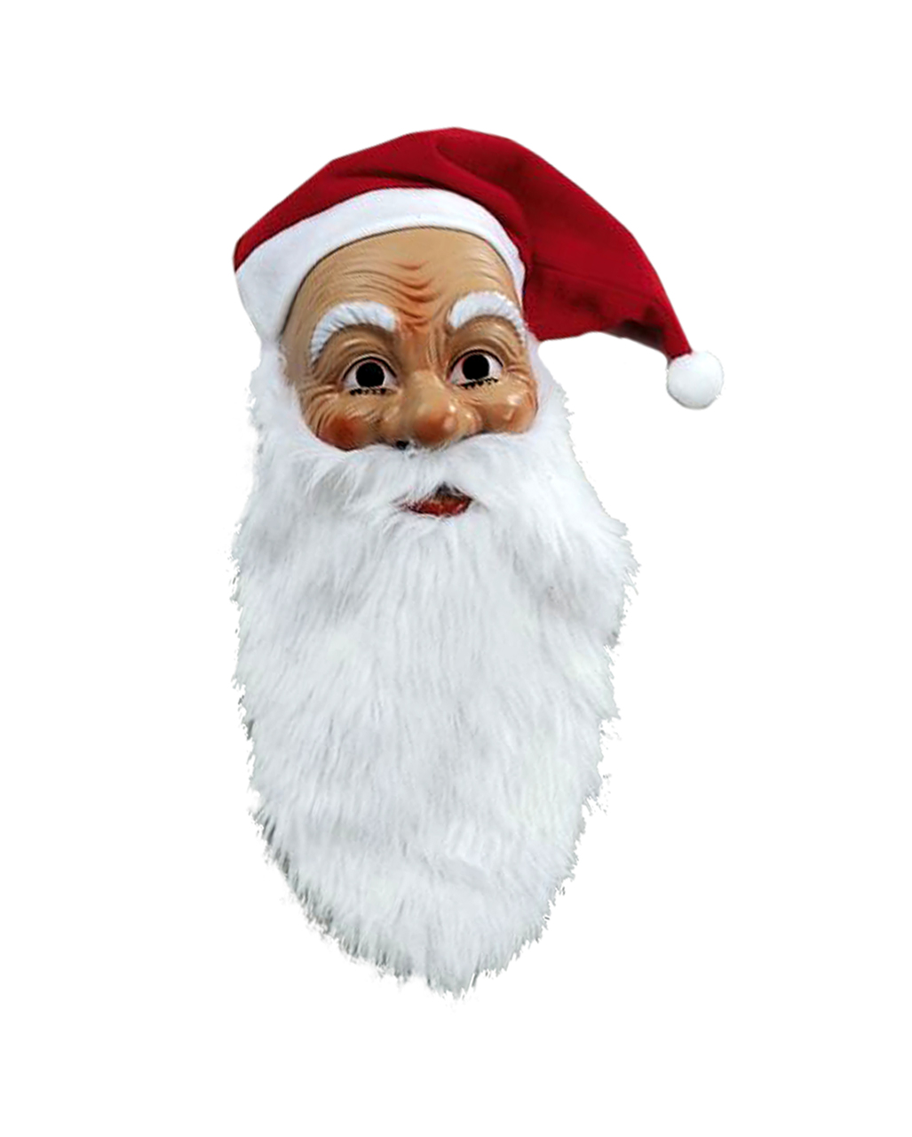 956715d81fb Santa Claus Mask With Plush Beard And Cap