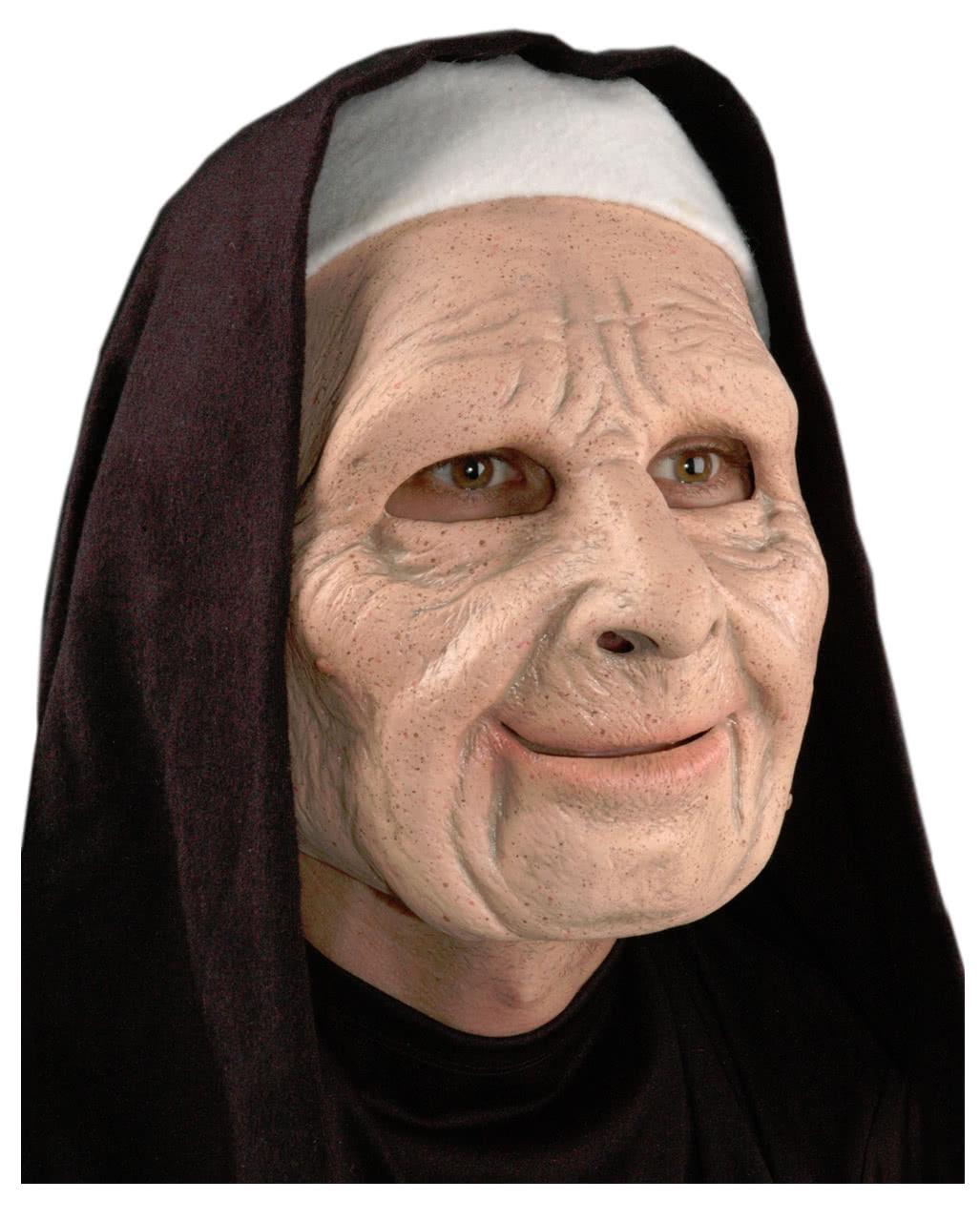 Unheimliche Nonnen Maske Fur Halloween Online Kaufen Horror Shop Com