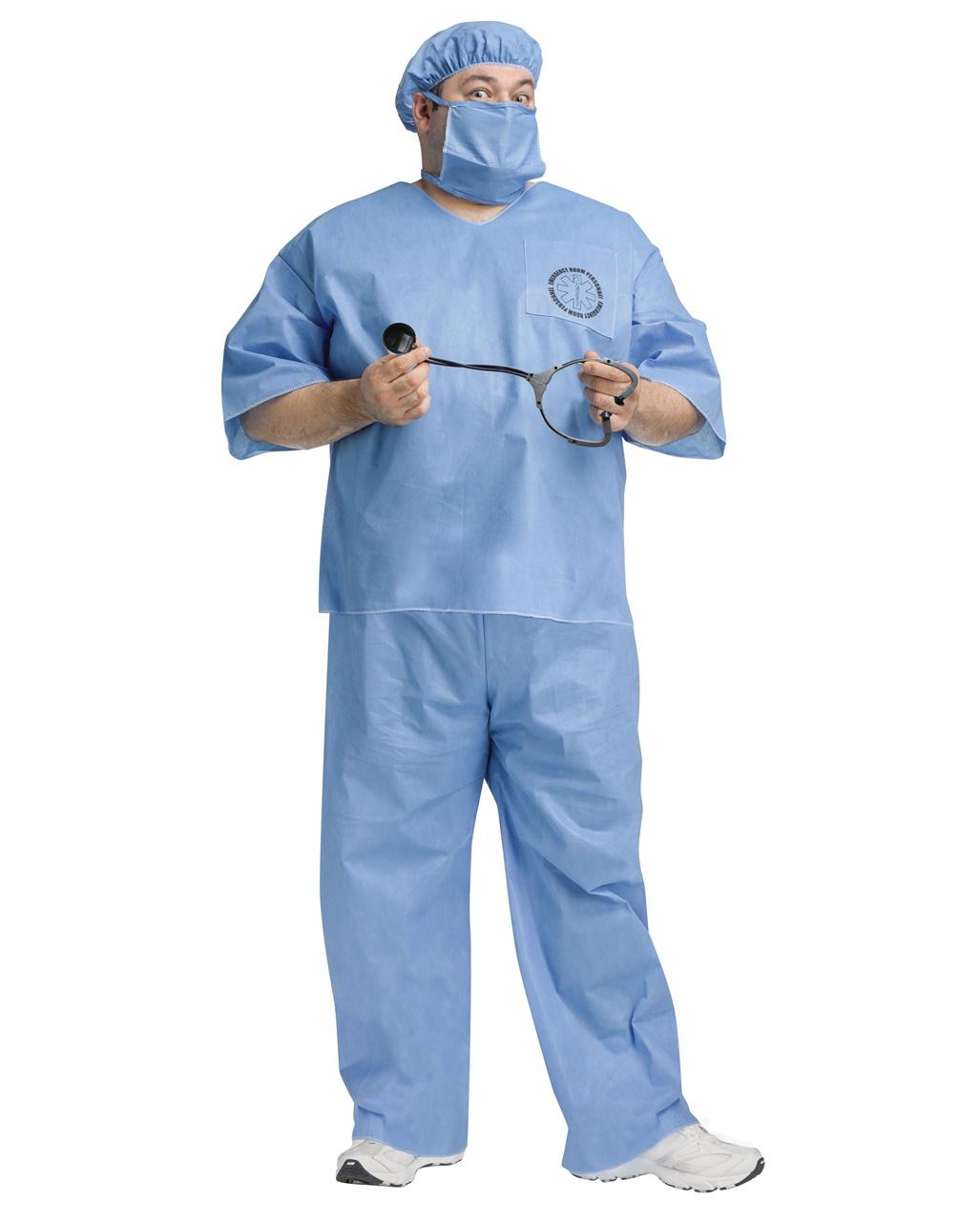 OP Doctor Costume Plus Size for Halloween | horror-shop.com