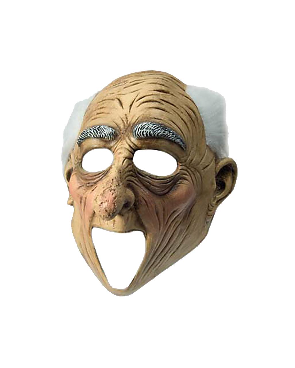 Opa Maske Mit Haarkranz Grossvater Latexmaske Horror Shop Com