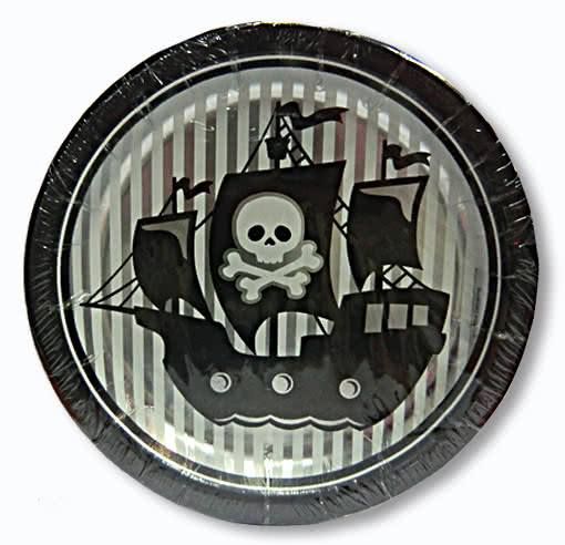 Paper Plates Pirates ahead Set of 8 -Piraten Party Party tableware Disposable plates | horror-shop.com  sc 1 st  Horror-Shop.com & Paper Plates Pirates ahead Set of 8 -Piraten Party Party tableware ...