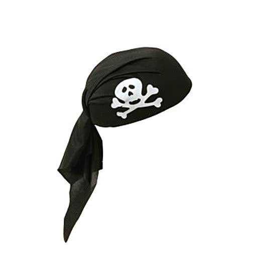 black pirate bandana pirate head scarf piraten accessoryjetzt