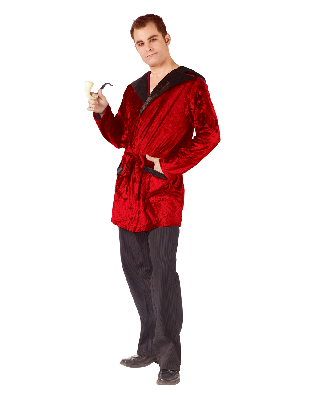 Playboy Dressing Gown With Pipe | Casanova costume | horror-shop.com