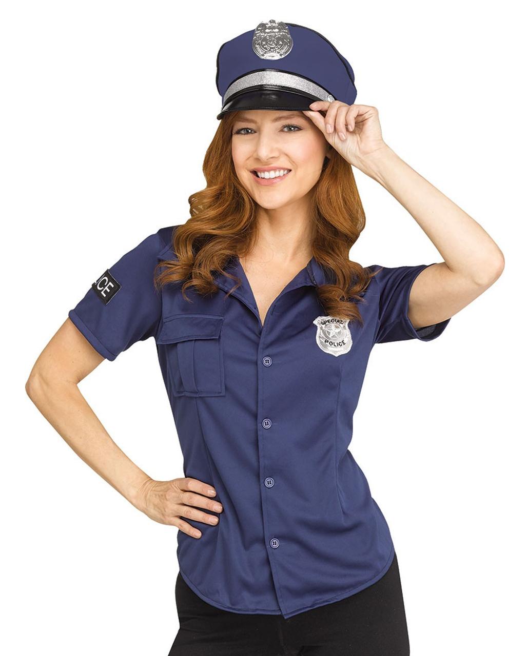 Police Kostumshirt Fur Damen Karneval Verkleidung Horror Shop Com