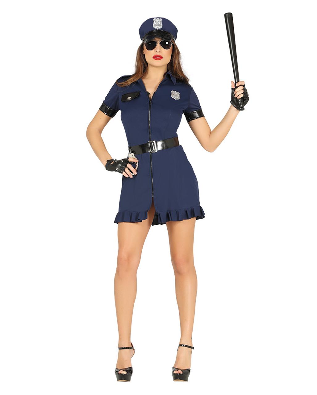 Policewoman Costume Black Blue For Halloween Horror Shop Com