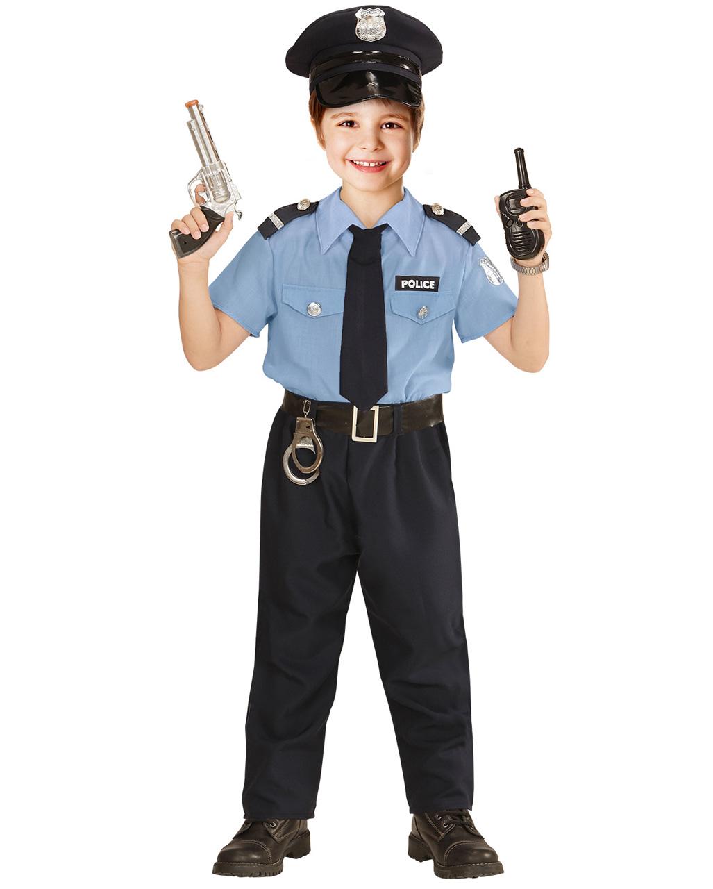 Polizist Kinderkostum Fur Fasching Online Kaufen Horror Shop Com