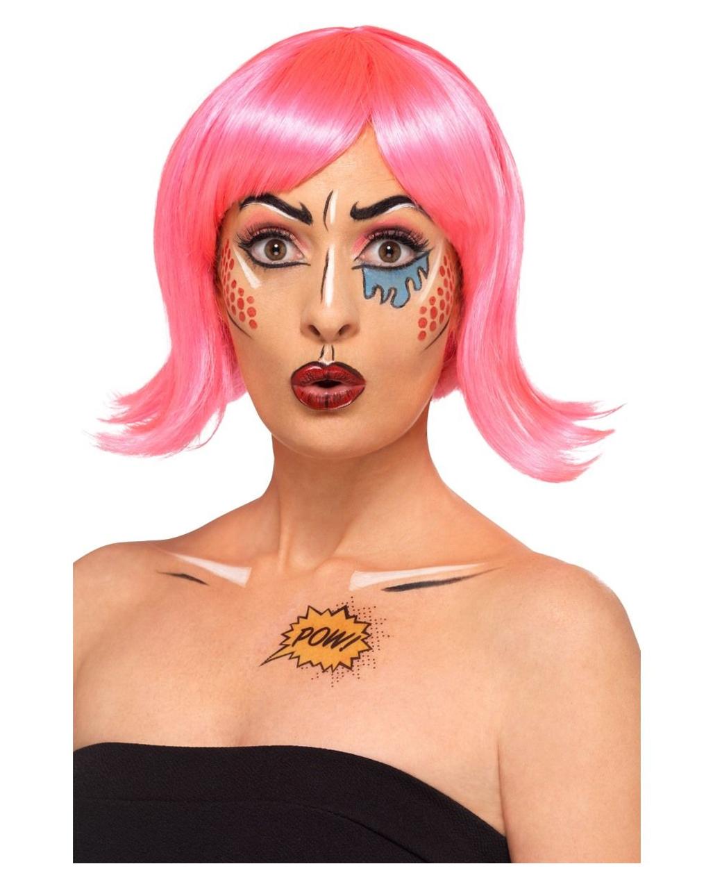Pop Art Make Up Kit Fur Fasching Kaufen Horror Shop Com