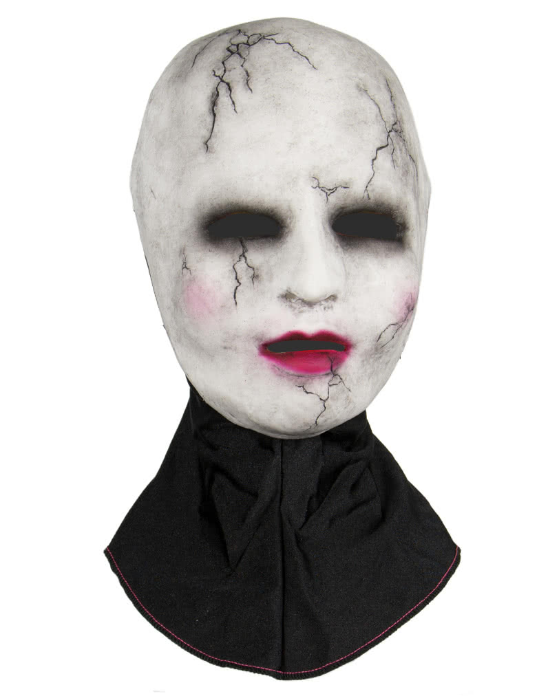 silicone half mask porcelain doll creepy doll horror mask | horror
