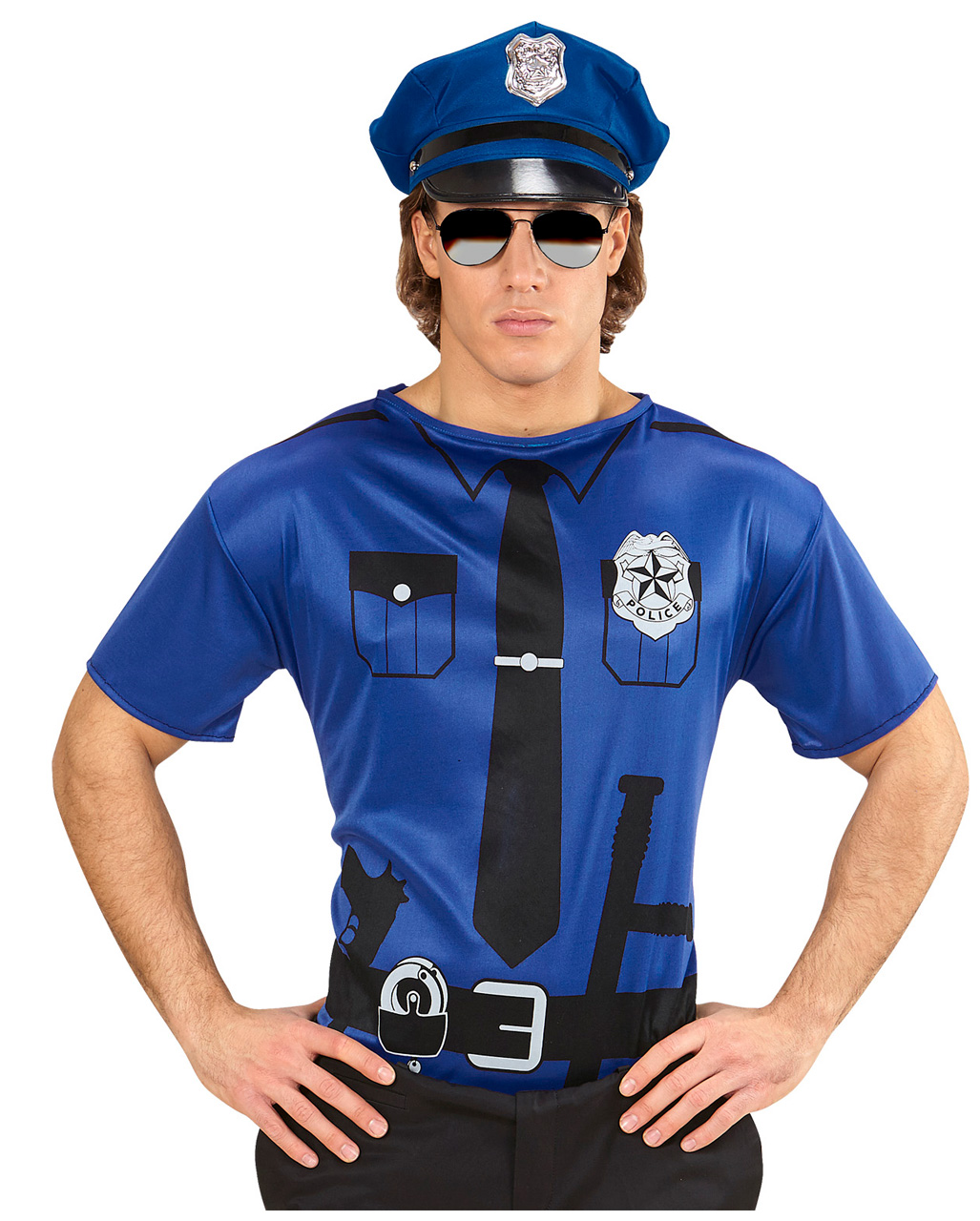 us policeman t-shirt as a cop costume accessory | horror-shop