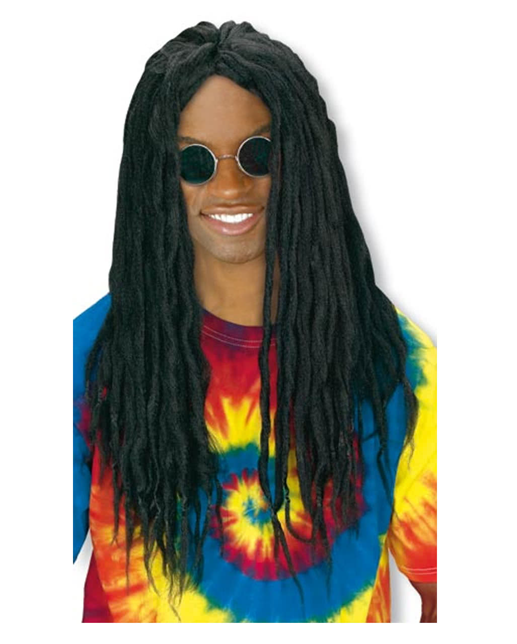 rasta wig black as reggae wig with pigtails