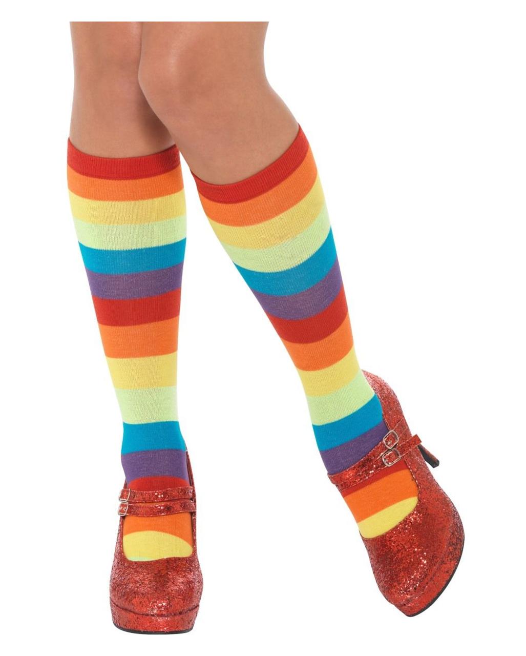 sc 1 st  Horror-Shop.com & Rainbow Clown Socks Unisex Clown costume accessories | horror-shop.com