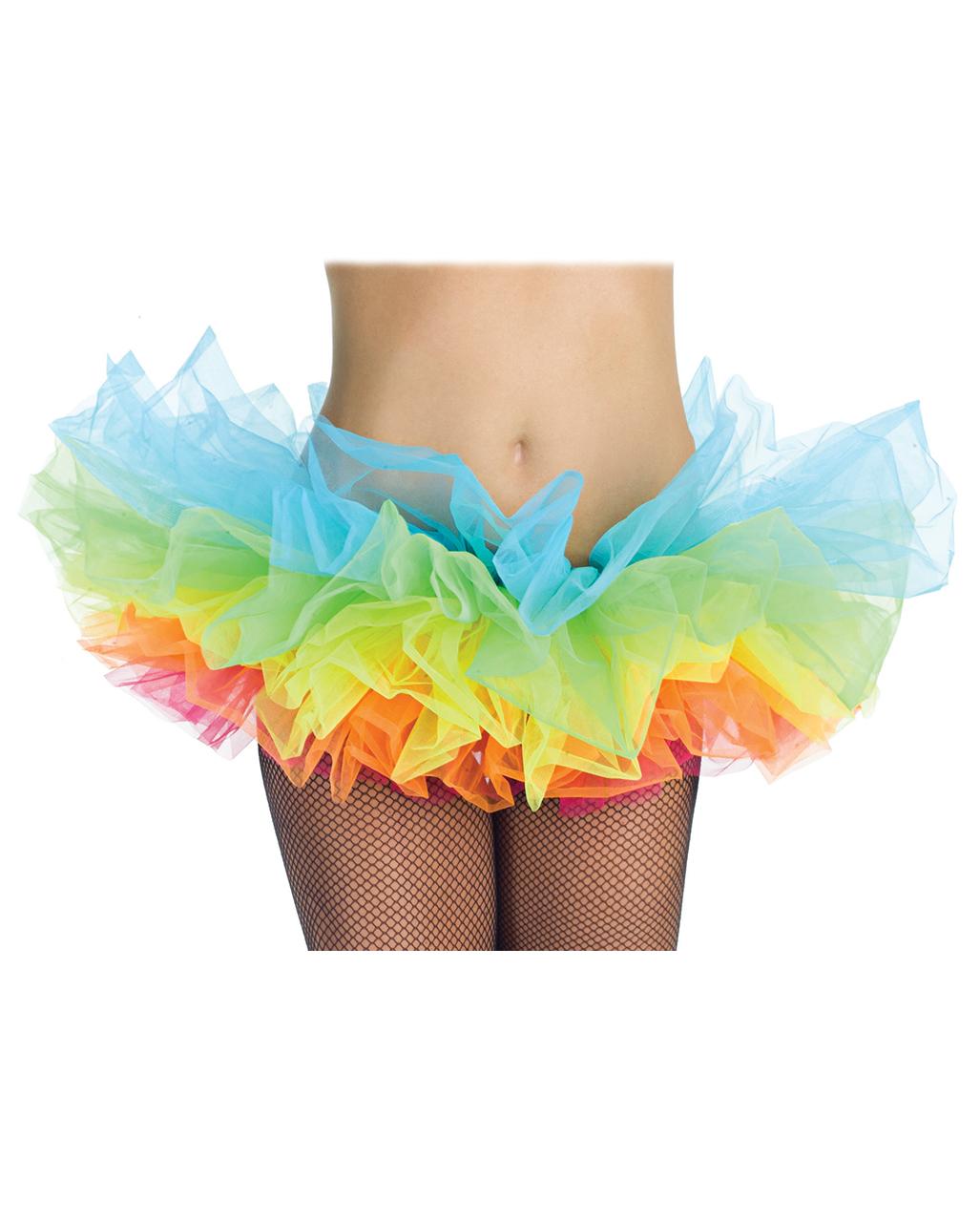 91b9a2d898 Rainbow Tutu tulle skirt | horror-shop.com
