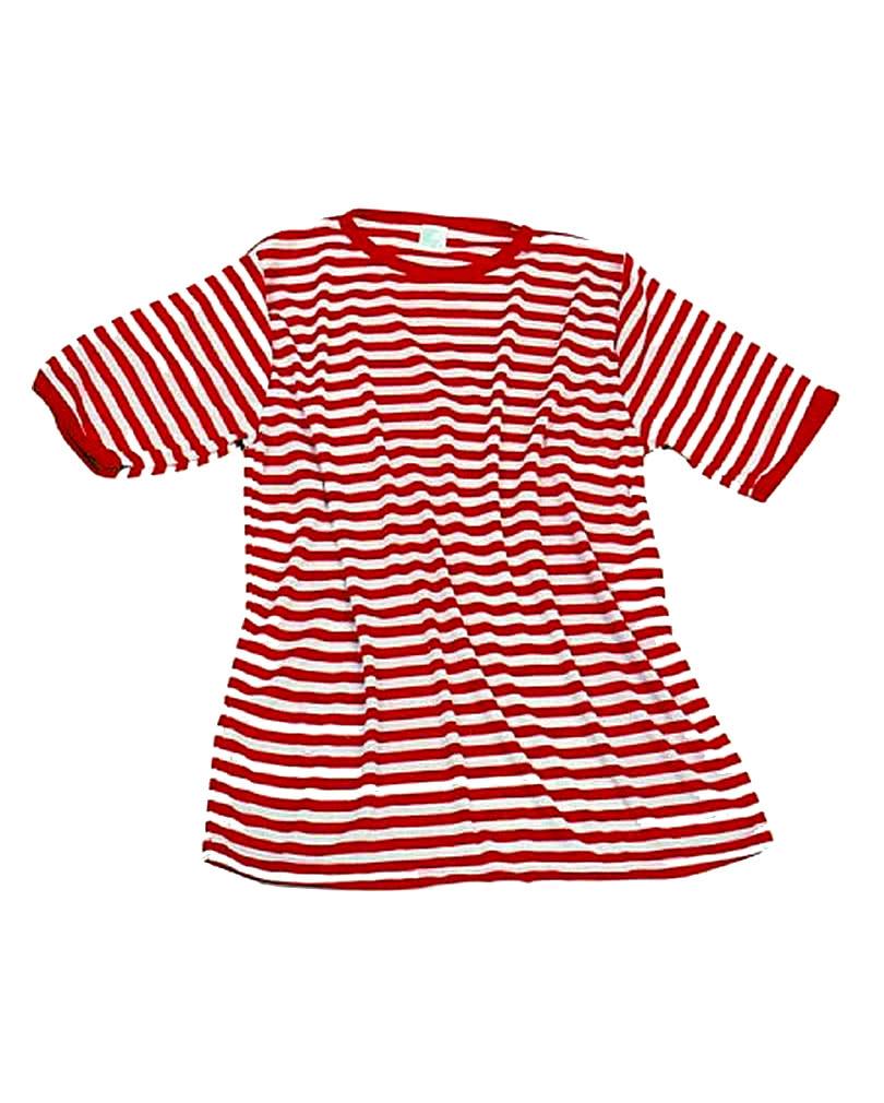 6e3594aa0e11df Ringelshirt rot-weiß für Clownkostüme