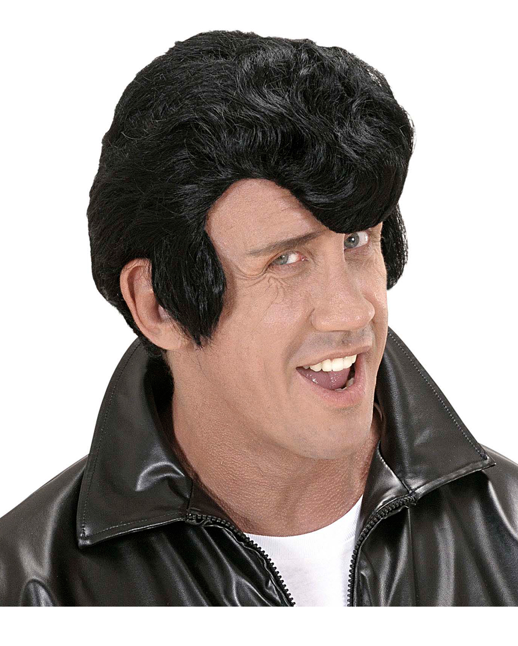 Rockabilly Wig Black Lard Curls Wig Elvis Wig Hair Replacement