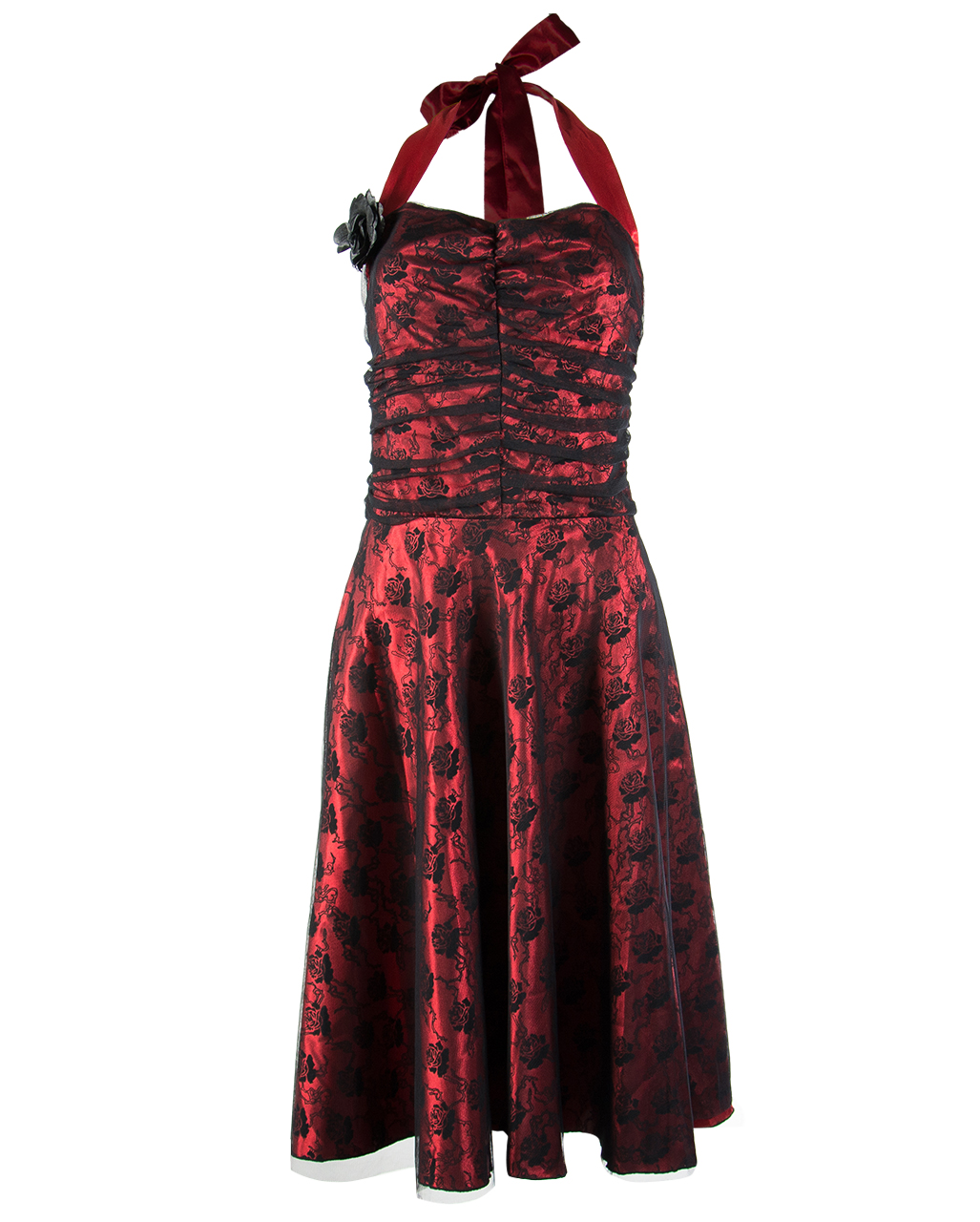 Red and Black Gothic Dresses
