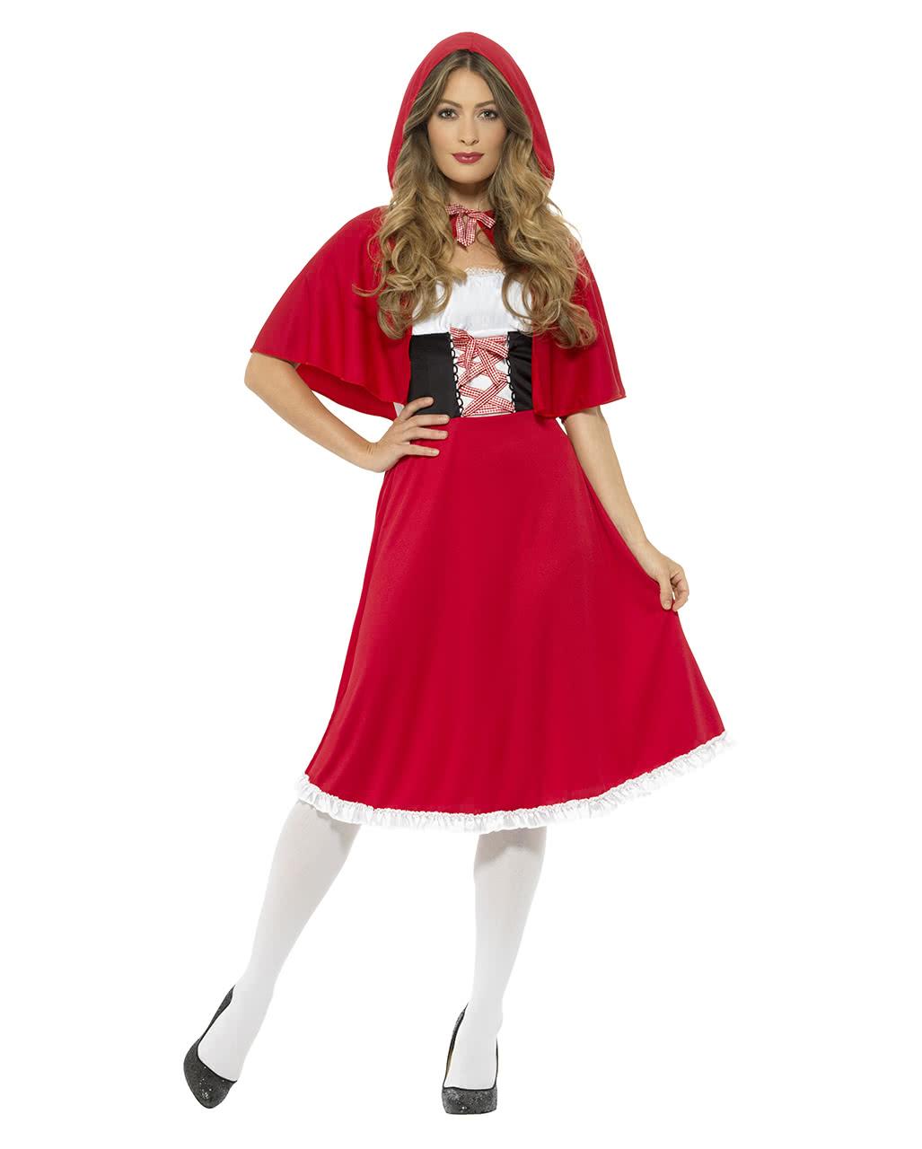 Rotkappchen Kostum Mit Kapuze Fur Karneval Horror Shop Com