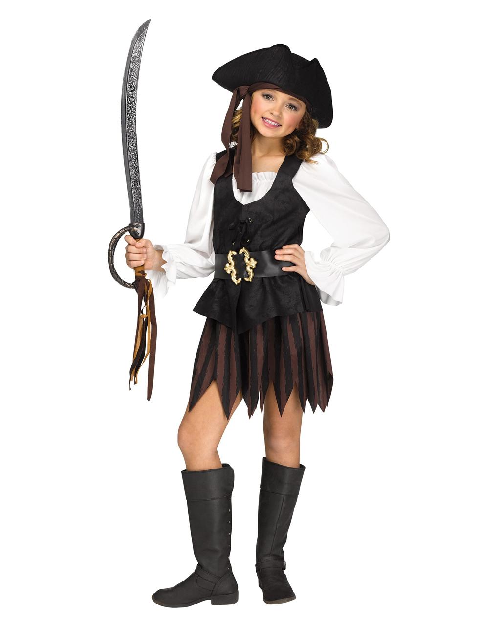 Rustikales Piraten Madchen Kostum Fur Fasching Horror Shop Com