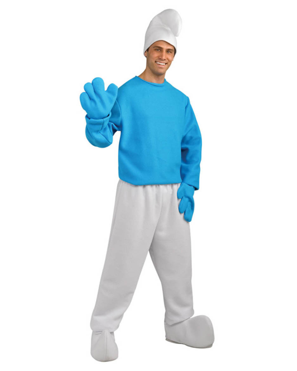 Smurf Costume Deluxe Plus Size | Become a resident of Schlumpfhausen ...