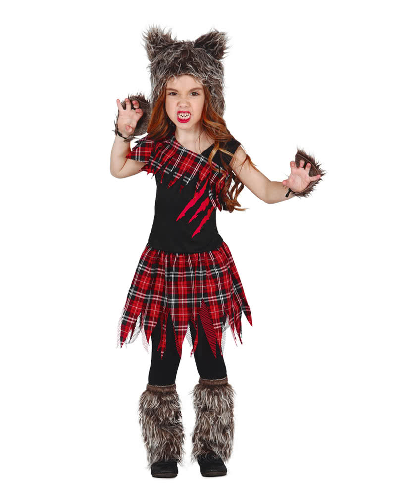 scottish wolf girl child costume | creepy halloween costume for