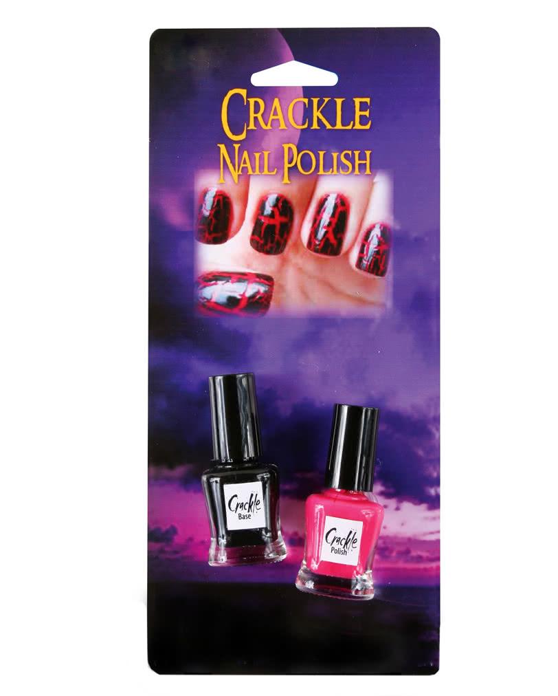 Crackle Nagellack Set Schwarz Und Rot Ausgefallenes Nageldesign