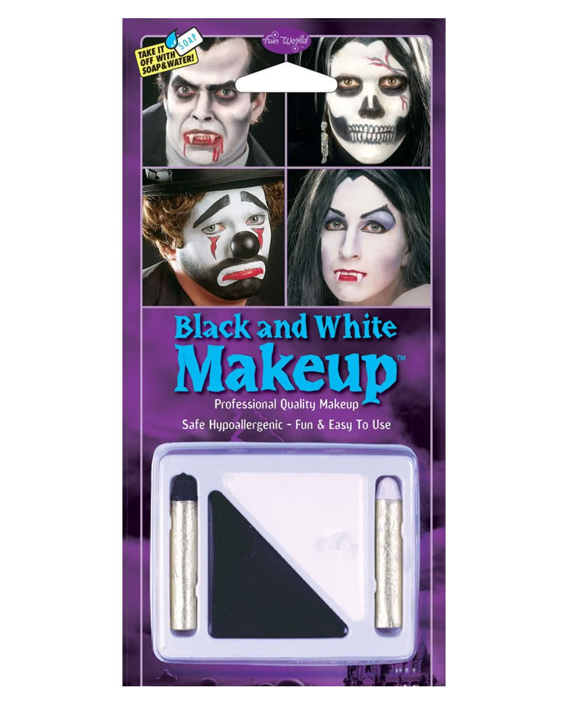 Schwarz Weiss Make Up Set Theater Schminke Fur Fasching