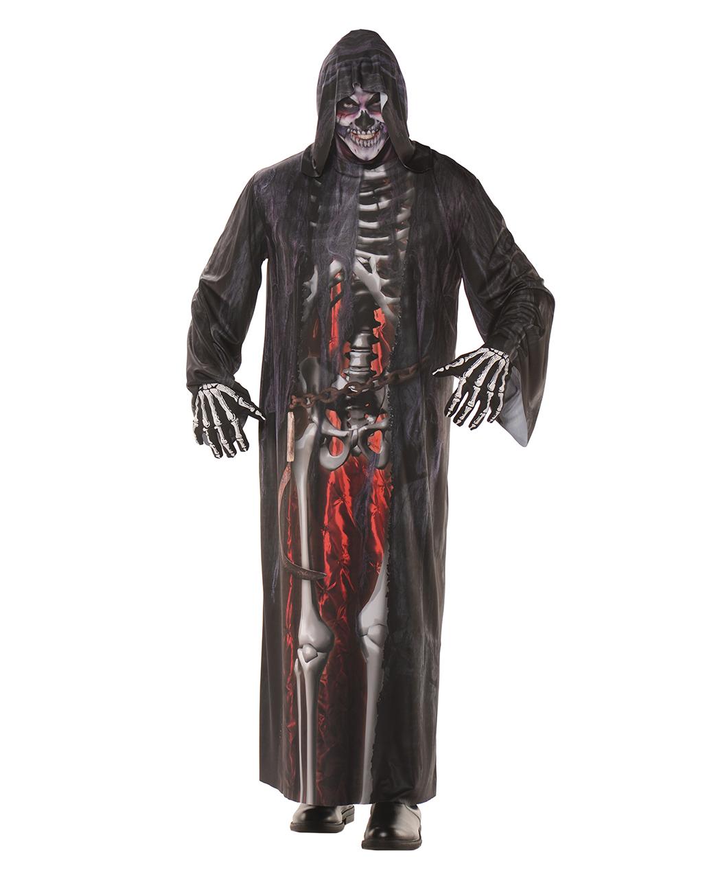 Grim Reaper Robe mit Fotodruck | Sensenmann Kostüm | Horror-Shop.com