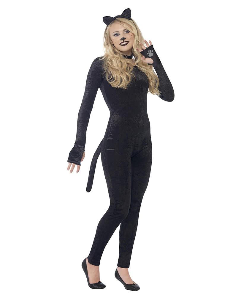 Schwarze Katze Kostum Sexy Overall Fur Miezekatzen Horror Shop Com